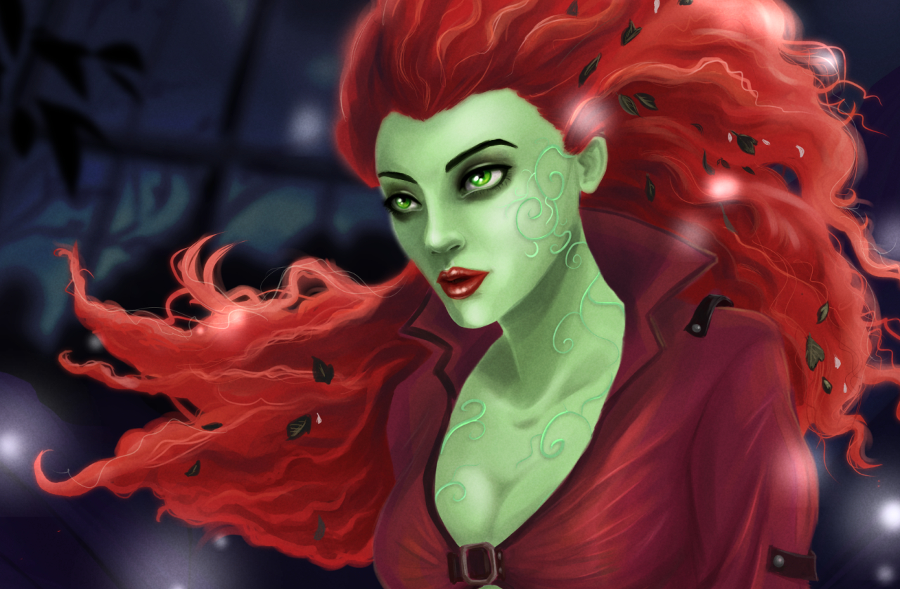 Poison Ivy from Arkham Asylum Fan Art