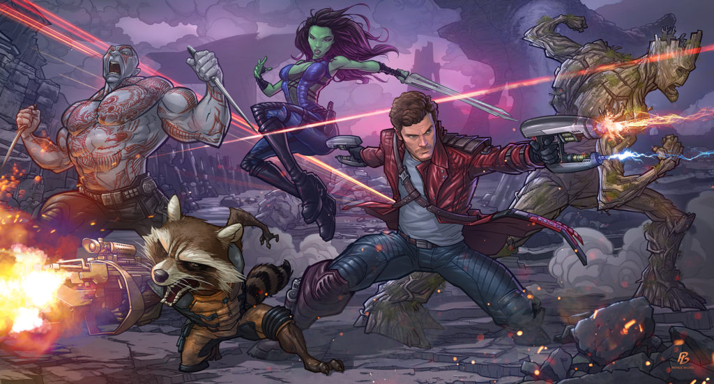 Guardians of the Galaxy by Patrick Brown